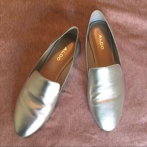 ALDO Silver Georgienne Loafers